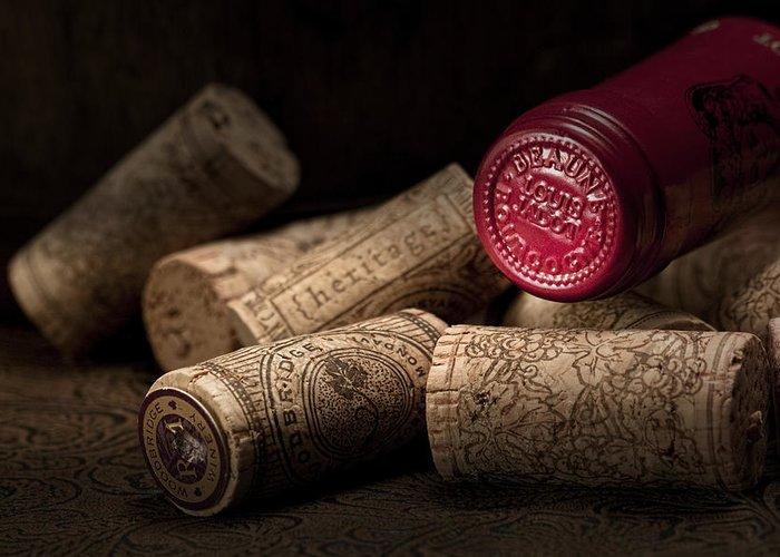 Wine Cork Greeting Card featuring the photograph Wine Corks Still Life Iv by Tom Mc Nemar