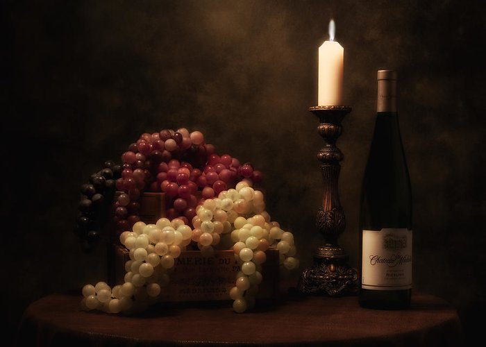 Alcohol Greeting Card featuring the photograph Wine Harvest Still Life by Tom Mc Nemar