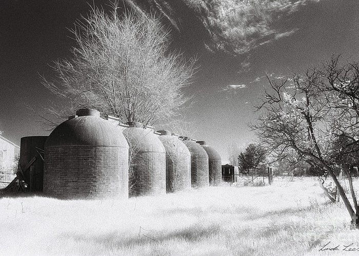 Infrared Greeting Card featuring the photograph Wine Vats Rutherglen by Linda Lees