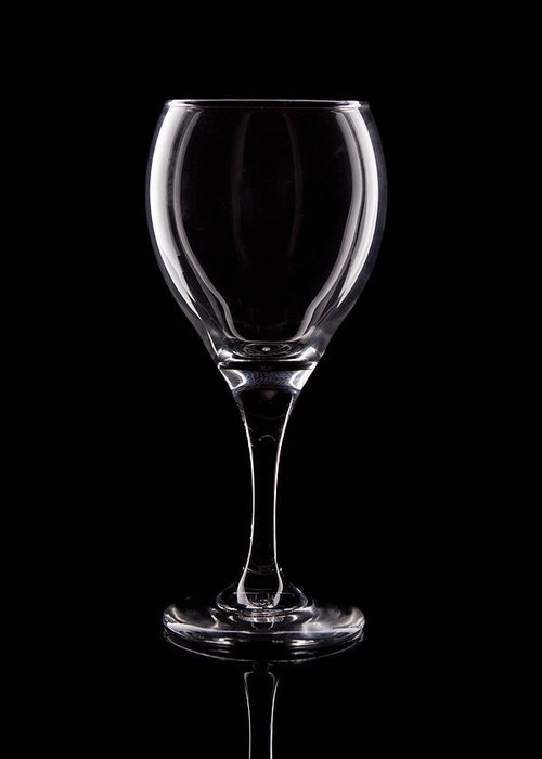 Wine Greeting Card featuring the photograph Wineglass by Tom Mc Nemar