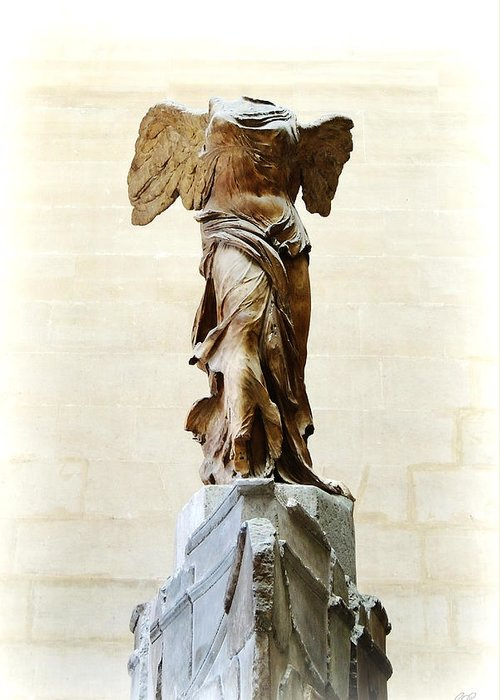 Winged Victory Of Samothrace Greeting Card featuring the photograph Winged Victory Of Samothrace by Conor OBrien