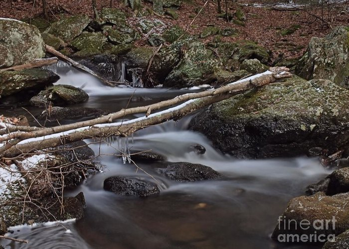 Buttermilk Greeting Card featuring the photograph Winter At Buttermilk Falls by Frank Piercy