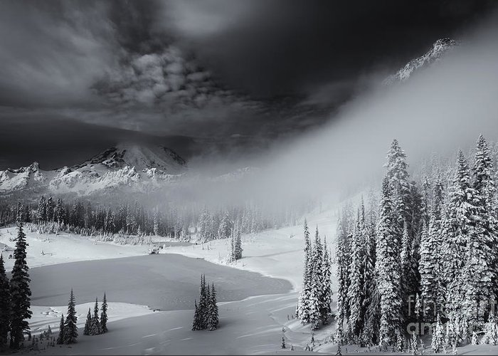 Winter Greeting Card featuring the photograph Winter Storm Clears by Mike Dawson