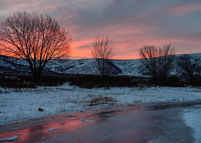 Sunrise Greeting Card featuring the photograph Winter Sunrise by Chad Dutson
