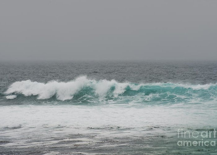 Waves Greeting Card featuring the photograph Winter Waves by Artist and Photographer Laura Wrede