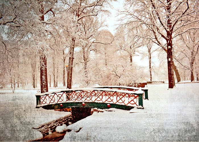 Bridge Greeting Card featuring the photograph Winter's Bridge by Marty Koch