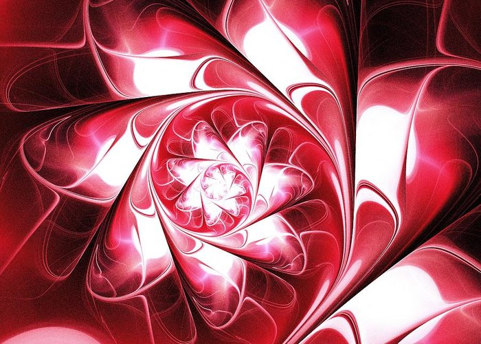 Need Greeting Card featuring the digital art With Love by Anastasiya Malakhova