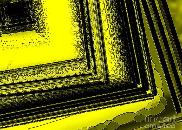 Yellow Art Greeting Card featuring the digital art Yellow Over Yellow Art by Mario Perez