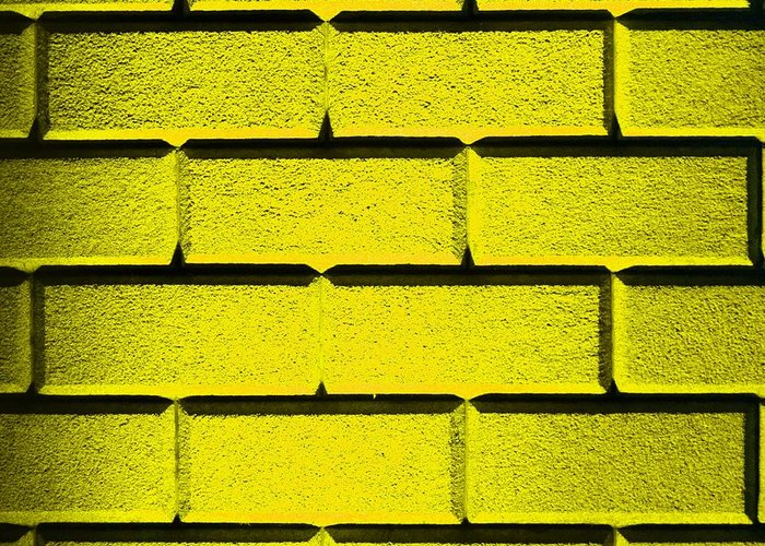 Yellow Greeting Card featuring the photograph Yellow Wall by Semmick Photo