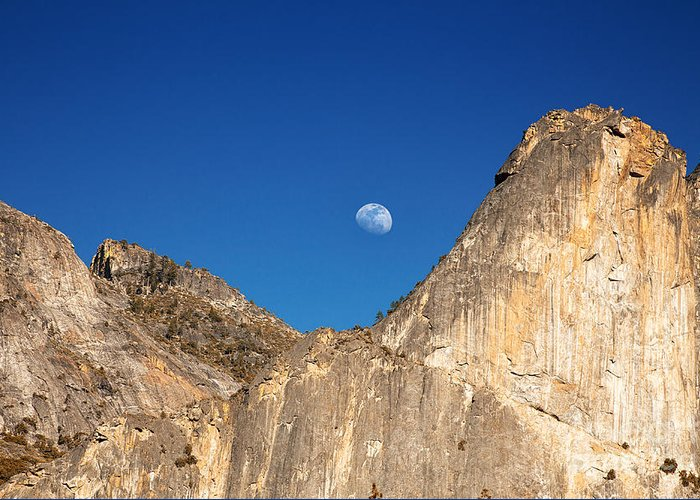Park Greeting Card featuring the photograph Yosemite Moonrise by Jane Rix