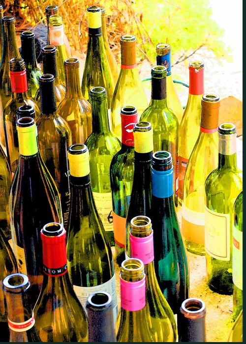 Wine Tasting Greeting Card featuring the photograph You Are Invited To A Wine Tasting... by Margaret Hood