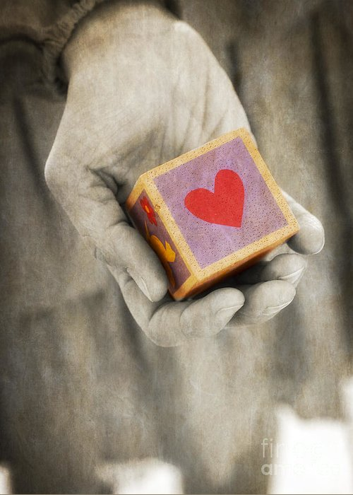 Lover Greeting Card featuring the photograph You Hold My Heart In Your Hand by Edward Fielding