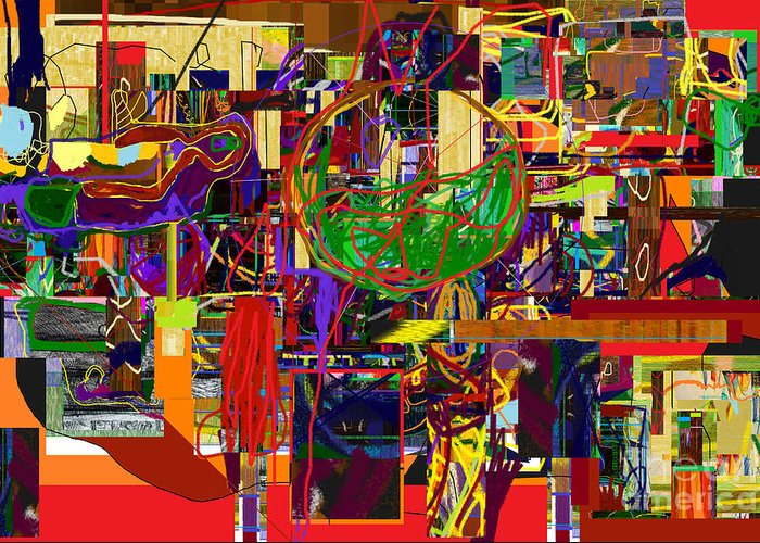 Torah Greeting Card featuring the digital art You Saw No Picture 11 by David Baruch Wolk