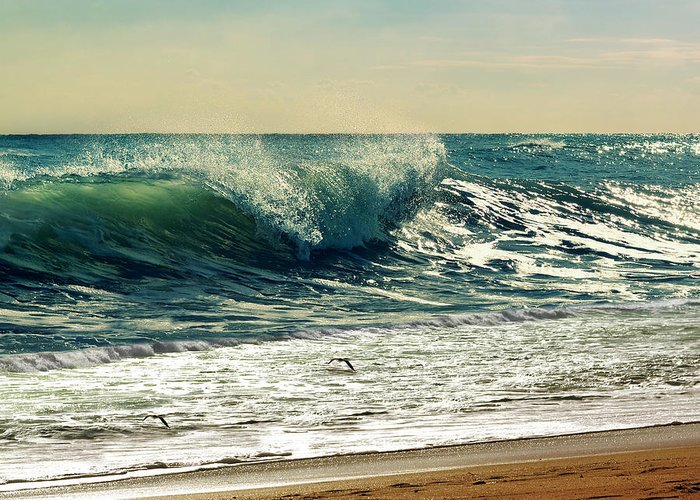 Waves Greeting Card featuring the photograph Your Moment Of Perfection by Laura Fasulo