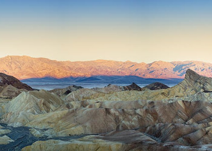Valley Greeting Card featuring the photograph Zabriskie Point Panorana by Jane Rix