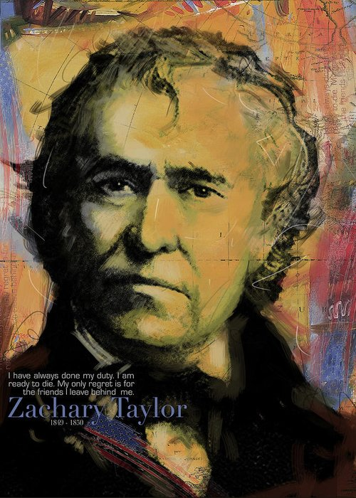 Zachary Taylor Greeting Card featuring the painting Zachary Taylor by Corporate Art Task Force