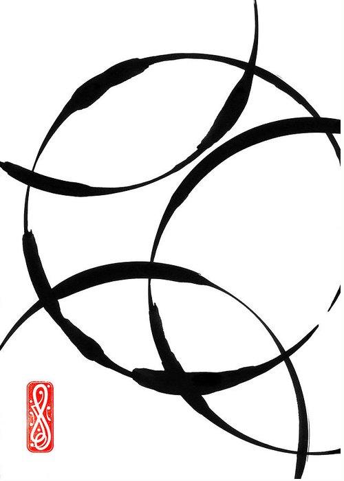 Zen Greeting Card featuring the painting Zen Circles by Hakon Soreide