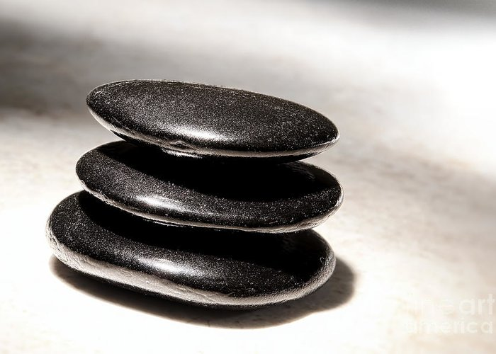 Zen Greeting Card featuring the photograph Zen Stones by Olivier Le Queinec