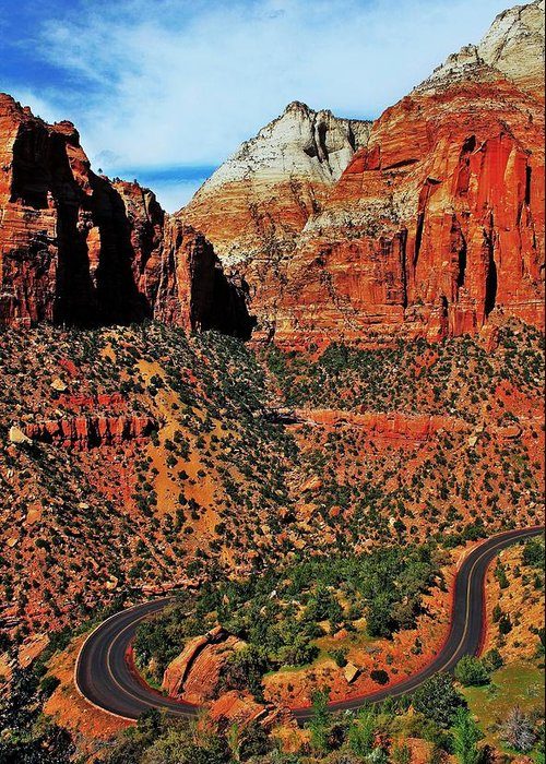 Zion Greeting Card featuring the photograph Zion Hairpin by Benjamin Yeager