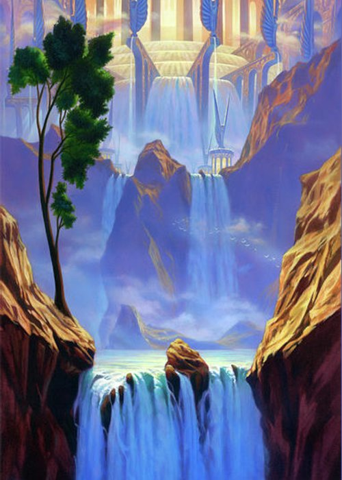 Jeff Haynie Greeting Card featuring the painting Zion by Jeff Haynie
