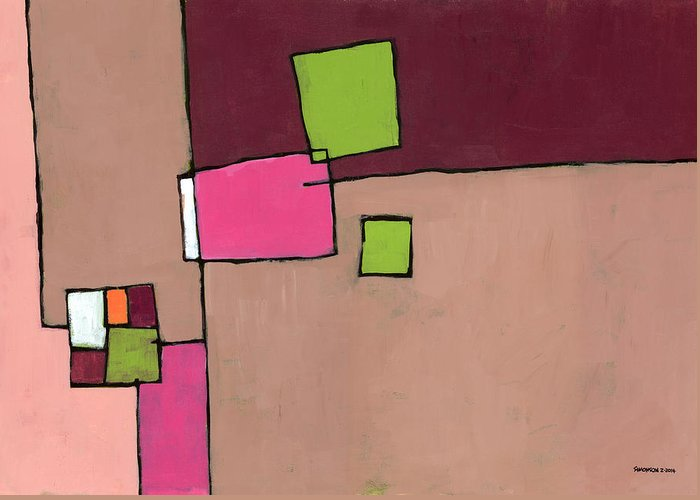 Abstract Greeting Card featuring the painting Zipless by Douglas Simonson