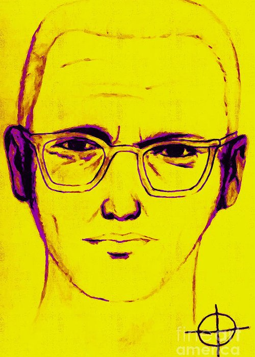 Zodiac Greeting Card featuring the photograph Zodiac Killer With Sign 20130213m68 by Wingsdomain Art and Photography