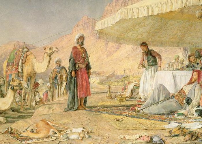 Xyc112301 Greeting Card featuring the photograph A Frank Encampment In The Desert Of Mount Sinai by John Frederick Lewis