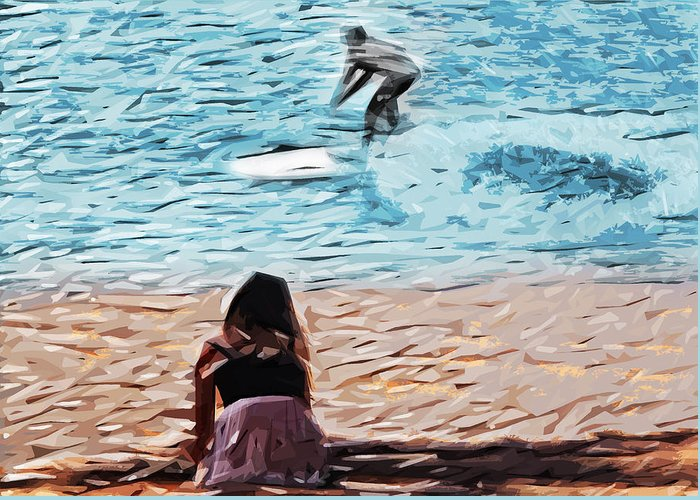 Surf Greeting Card featuring the photograph Freedom by Tilly Williams