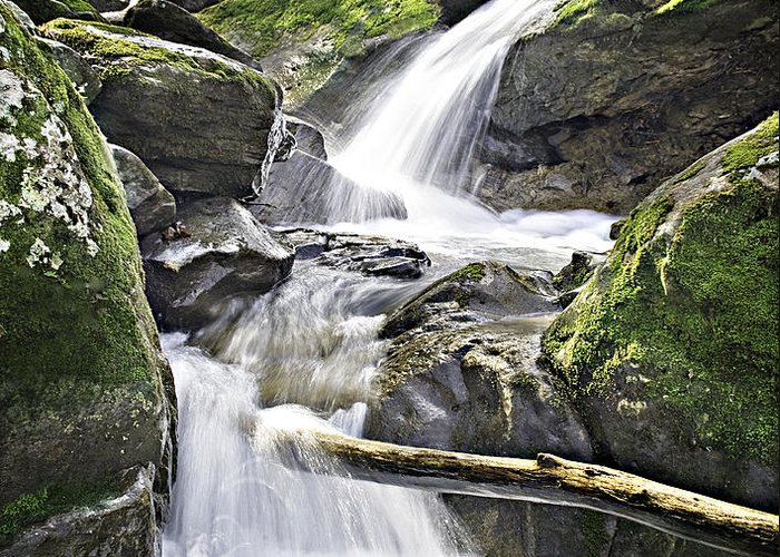 Arkansas Greeting Card featuring the photograph 0804-0035 Cascade Above Triple Falls by Randy Forrester