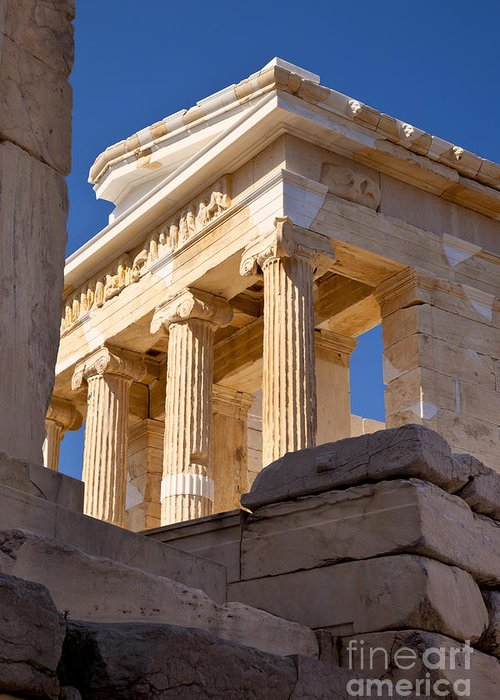 Acropolis Greeting Card featuring the photograph Acropolis Temple by Brian Jannsen