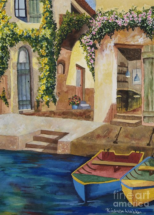 Authentic Inspiration Greeting Card featuring the painting Afternoon At The Piazzo by Kimberlee Weisker