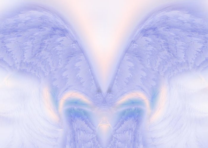 Angel Greeting Card featuring the painting Angel Wings by Christopher Gaston