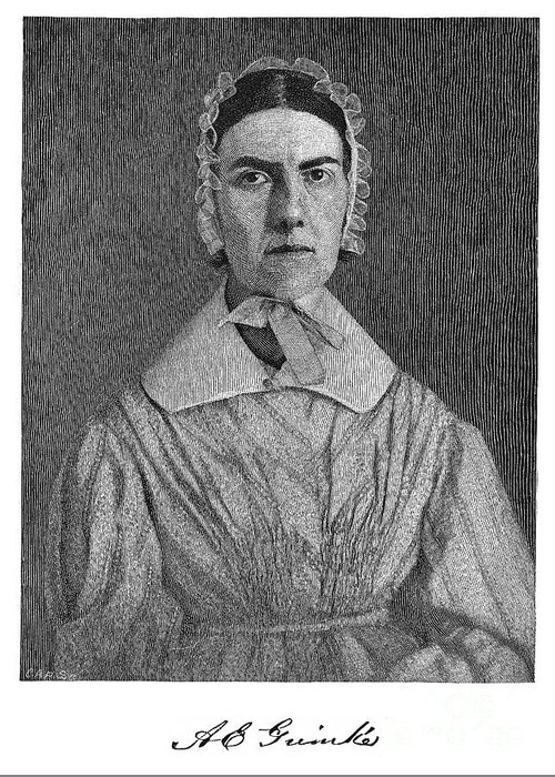 19th Century Greeting Card featuring the photograph Angelina Emily Grimke by Granger