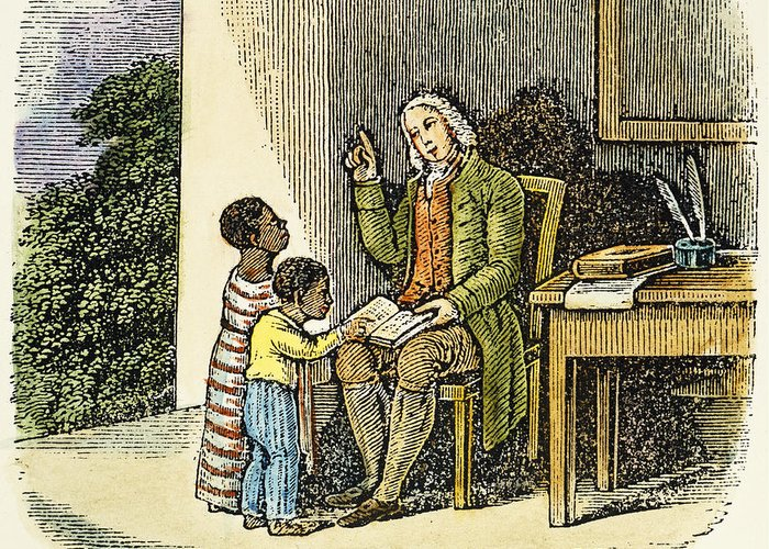 18th Century Greeting Card featuring the photograph Anthony Benezet (1713-1784) by Granger
