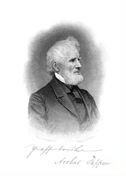 1860s Greeting Card featuring the photograph Arthur Tappan (1786-1865) by Granger
