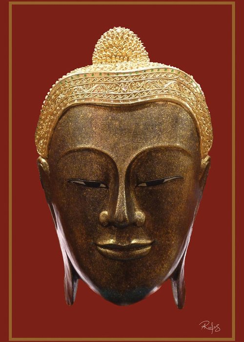 Buddha Greeting Card featuring the photograph Buddha's Pleasure by Allan Rufus