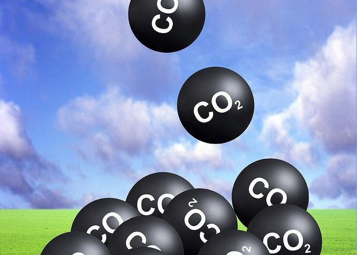 Carbon Dioxide Greeting Card featuring the photograph Carbon Dioxide And Climate Change by Victor De Schwanberg
