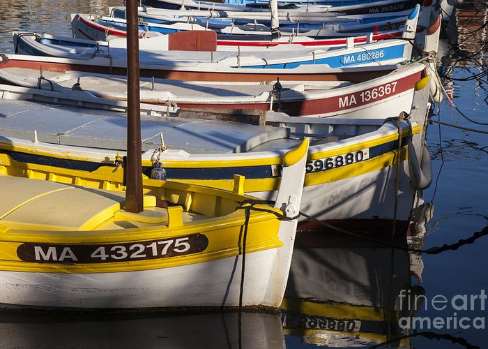 Boating Greeting Card featuring the photograph Cassis Boats by Brian Jannsen