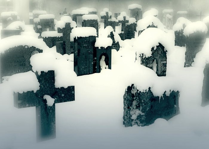 Cemetery Greeting Card featuring the photograph Cemetery by Joana Kruse