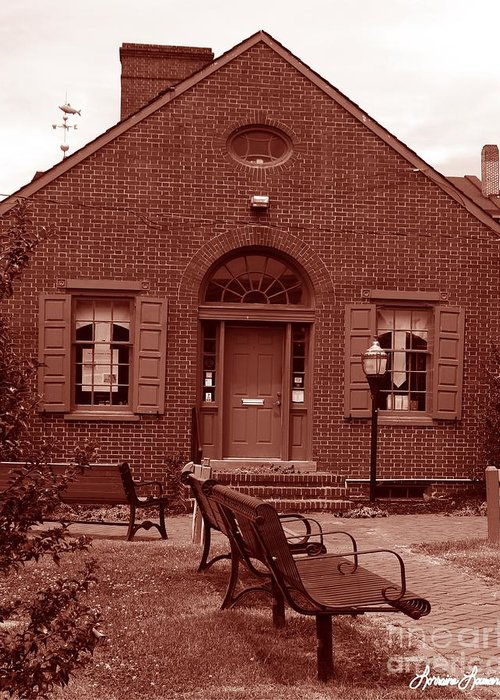 Photography Greeting Card featuring the photograph Chamber Of Commerce Elkton Md by Lorraine Louwerse