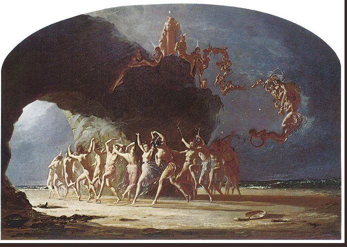 Richard Dadd Greeting Card featuring the painting Come Unto These Yellow Sands by Richard Dadd