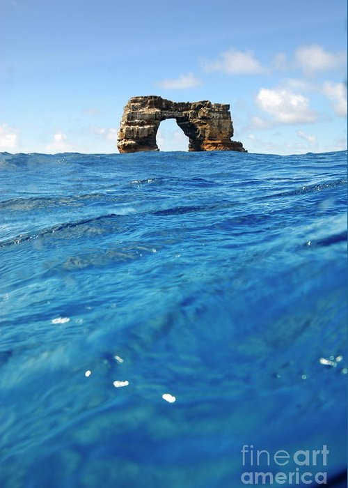Tranquil Scene Greeting Card featuring the photograph Darwin's Arch By Sea Level by Sami Sarkis