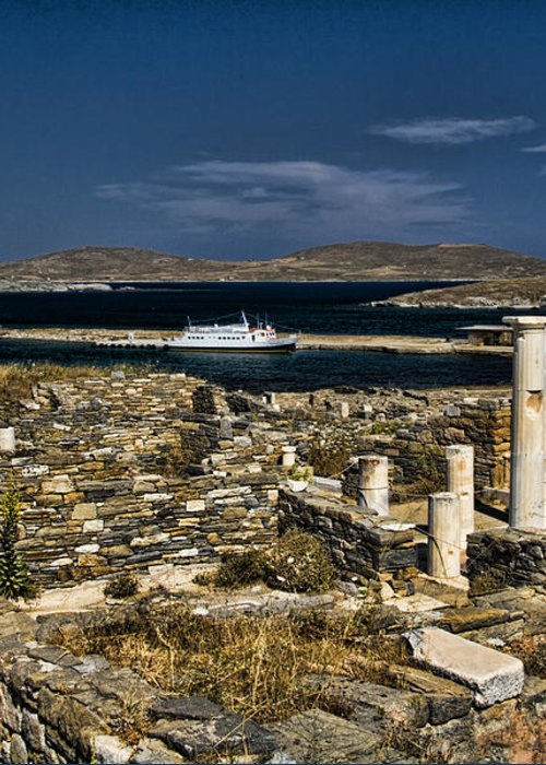 Delos Greeting Card featuring the photograph Delos Island by David Smith