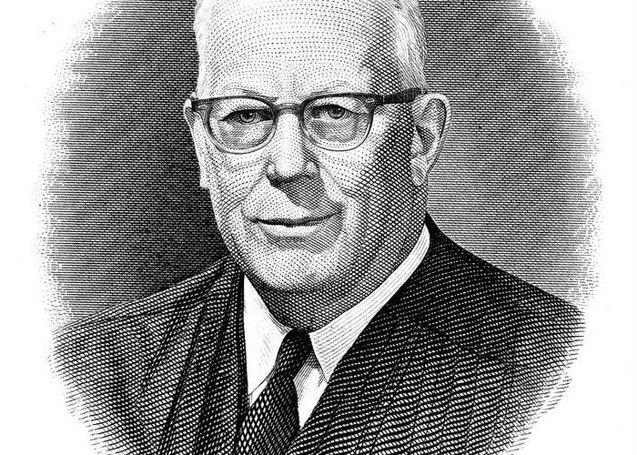 1953 Greeting Card featuring the photograph Earl Warren (1891-1974) by Granger