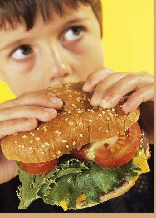 Food Greeting Card featuring the photograph Fast Food by Ian Boddy
