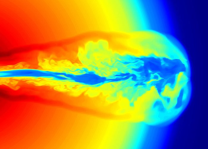 Gamma Ray Burst Greeting Card featuring the photograph Gamma Ray Burst Formation by Weiqun Zhangstan Woosley