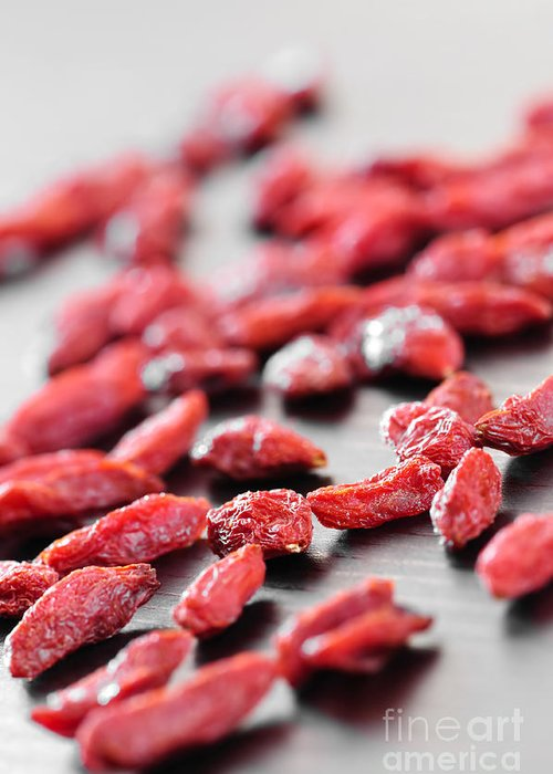 Goji Greeting Card featuring the photograph Goji Berries by Elena Elisseeva
