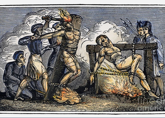 1550 Greeting Card featuring the photograph Heresy: Torture, C1550 by Granger