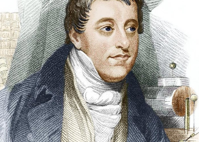 Humphry Davy Greeting Card featuring the photograph Humphry Davy, English Chemist by Sheila Terry