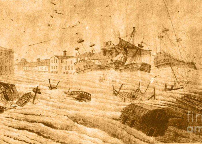 Weather Greeting Card featuring the photograph Hurricane, 1815 by Science Source